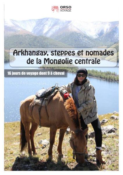 Arkhangay, steppes et nomades de la Mongolie centrale